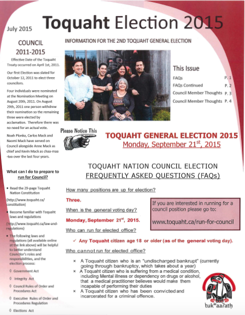 council election newsletter